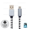Cable SS White (1M,AD-215) - สายชาร์จ PNG
