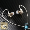 Small Talk RM-580 (Gold) Double Moving - Coil Earphone - หูฟัง REMAX