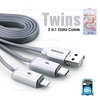 Cable 3in1 lightning/micro/Type-c  RC-078th (Silver) - REMAX