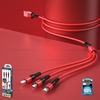 Cable 1M 3in1 (Red,WDC-125) Suji - WK