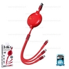 Cable 1.2M WDC-124 (Red) 3in1