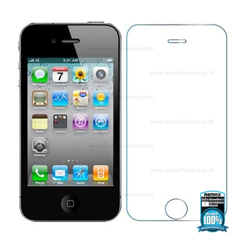 Film Apple iPhone 4/4s (Clear) - ฟิล์มกระจก REMAX Tempered Glass